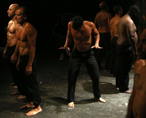 Scene from the performance by the Roumieh prison inmates