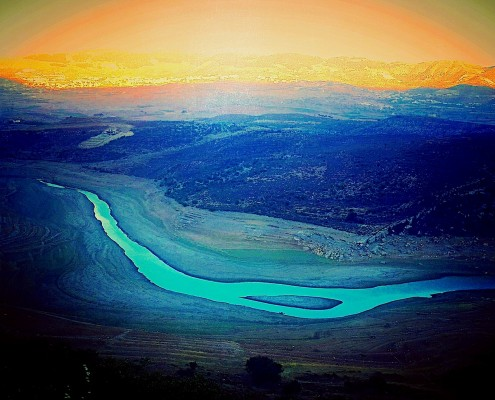 The Litani River, Bekaa, Lebanon